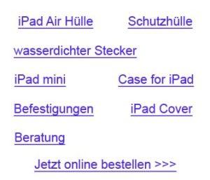 Wasserdichte iPad Hüllen
